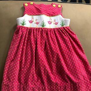 Other - Beaux et Belles size 2 Flamingo smocked dress